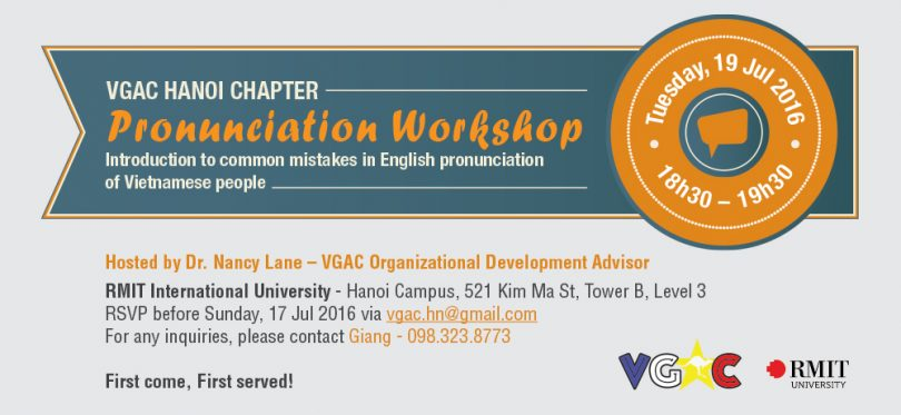 Pronunciation Workshop in Hanoi » VGAC - Vietnam's Graduates